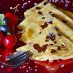 Crépes mit Cranberrys