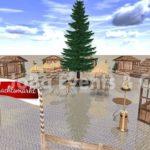 Weihnachtsmarkt Hütten aufstellen
